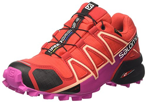 Salomon Speedcross 4 GTX W, Chaussures de Trail Femme Rouge (Poppy Red/barbados Cherry/black)