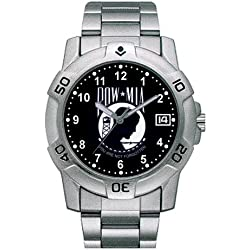 Zanheadgear 'POW-MIA' Military Watch with Date Viewer (Chrome)