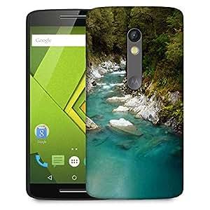 Snoogg Blue Water And White Rocks Designer Protective Phone Back Case Cover For Lenovo Motorola Moto G4