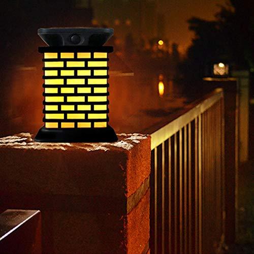 Unbekannt Neueste Beleuchtung Solarsäulenkopflicht im Freien Solar Garten Villa Holzstapel Garten Landschaft Zaun Licht Kofferdam wasserdicht Farblicht