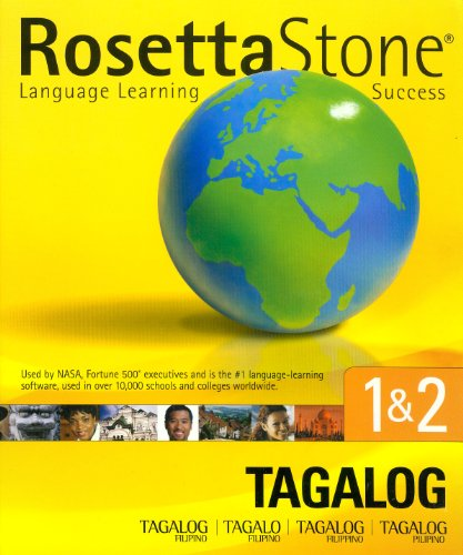 Rosetta Stone Tagalog PremiumPac 1&2. CD-ROM für Windows und Mac
