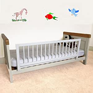 Safetots Wooden Bed Rail, White: Amazon.co.uk: Baby