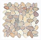 K-1-557 - 1m² = 11 Kieselstein Mosaikfliesen geschnitten Naturstein Boden Wand Fliesen Lager Verkauf Herne NRW