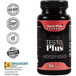 Testosterona formulada con TESTOFEN + ginseng, zinc y maca. Testosterona natural REGISTRADA y avalada con estudios clínicos. Aumento de masa muscular, rendimiento deportivo, fuerza y energía. ISO 9001