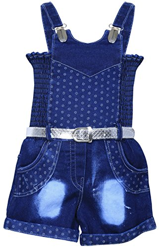 MPC Cute Fashion Baby Girls Jeans dungaree Jumpsuit ( Jeans_jumpsuit _16_Blue_3-6 Months)