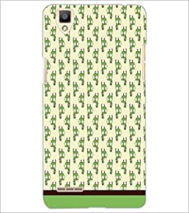 PrintDhaba Cartoon pattern D-1880 Back Case Cover for OPPO F1 (Multi-Coloured)