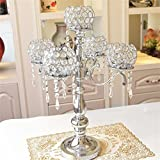 Candeliere decorazioni mobili retrò romantico lussuoso regalo di festival a lume di candela cena a lume di Coppa Refinement Lanterna di cristallo di modo classico artigianato creativo ( colore : Silver-#2 )