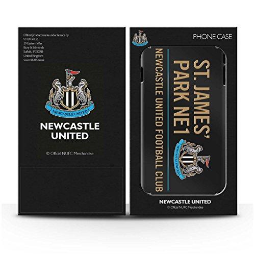 Officiel Newcastle United FC Coque / Clipser Brillant Etui pour Apple iPhone 7 / Noir/Or Design / St James Park Signe Collection Noir/Or