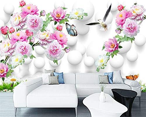 2019 Benutzerdefinierte Hintergründe Startseite Dekorative Fototapete Blossom Frozen Peony 3D Dekorative Tv Sofa Hintergrund Fototapete 3D Wallpaper Fototapete 3D Effekt-360x280CM