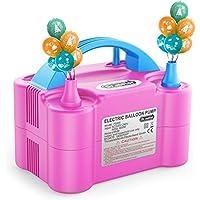 Dr.meter Pompe à Ballon, Gonfleur Electrique Ballon avec Double Utilisation, Portable pour Soufflante Gonfleuse, pour Fête, Mariage, Anniversaire, Activités et Décoration de Destival (Bleu)