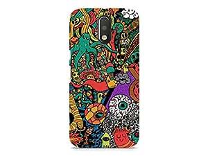 Hamee Designer Printed Hard Back Case Cover for Xiaomi Redmi 4 Design 5134