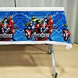Partymane Avenger Theme Table Covers for Kid's Birthday Party (Multicolour, Medium)