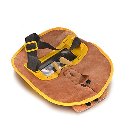 Atoplee, Schweißmaske aus Leder, komfortabel, automatische Verdunkelung - 1 Stück