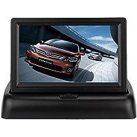 Monitor plegable de visión de marcha atrás WZMIRAI, para el vehículo, 4,3