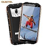 Outdoor Handy, OUKITEL WP5000 IP68 Smartphone Wasserdichtes Stoßfest Staubdicht Dual SIM Handy Android 5.7 Zoll mit 18:9 Display 5200mAh Akku Dual Kameras 16MP+5MP 6GB RAM 64GB ROM-Orange