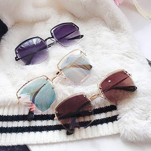 BHLTG Sonnenbrille Frau Persönlichkeit Mode Licht und Gefälle Gefälle Tee Flut Süße Sonnenbrille Outdoor Sports Reiten Fahren Mirror-1