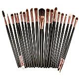CINEEN 20 Stück Professional Makeup Pinsel set Augenbrauen Wimpern Lidschatten Lidstrich Lippenpinsel Kosmetikpinsel