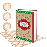 Logbuch-Verlag kleines Rezeptbuch Backbuch zum Selberschreiben rot braun grün Din A5 MEINE PLÄTZCHEN weihnachtlich + Aufkleber beige zum Beschriften eigene Rezepte DIY