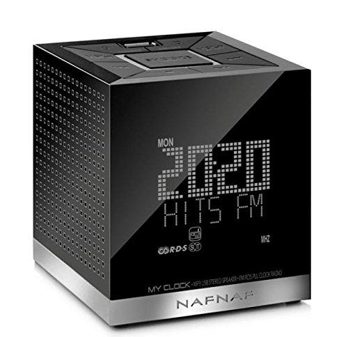 Naf Naf MYCLOCK-V3BK - Radio despertador, color negro