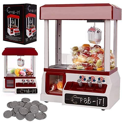 Mr.Fragile Candy Grabber, Traditionelles Messegelände Arcade-Spiel Replik, Klauen Grab Maschine Mit Musik, Licht-Funktion, Einschließlich Münz Party Spielzeuggeschenk Für Kinder Kinder, Bunte Box (Münz-spiele)