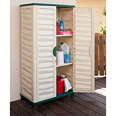 Outdoor Storage Plastic Utility Cabinet Garden Garage House Shed Patio Tools NEW - cheap UK light store.