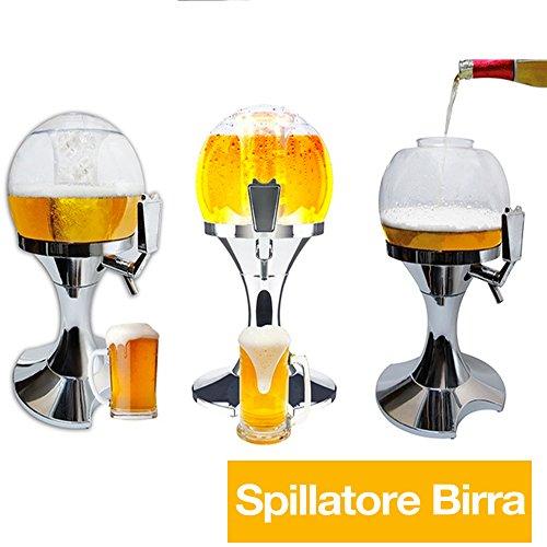 081 store - l'originale spillatore di birra fresca alla spina - erogatore dispenser distributore refrigerato da casa a forma di pallone con vaschetta del ghiaccio per bibite e bevande fresche