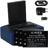 4x Batterie + Double Chargeur (USB/Auto/Secteur) pour Drift HD (1080p), HD170 (Stealth), HD720 / Toshiba Camileo H20 ... / Ricoh Caplio RR10 uvm... v. liste