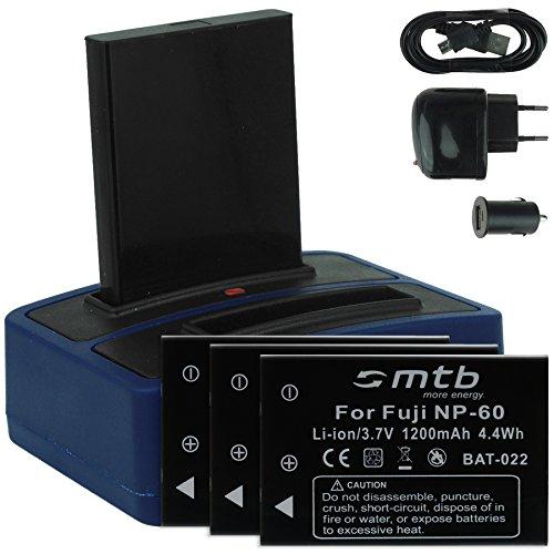 4x batteria + caricabatteria doppio (usb/auto/corrente) per drift hd (1080p), hd170 (stealth), hd720 / toshiba camileo h20 ... / ricoh caplio rr10 uvm... v. lista