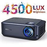 Proyector Native 1080p (1920 x 1080) Proyector de Cine en casa LED Full HD, Compatible con HDMI USB SD VGA AV Laptop, Smartphone Video, Juegos de fútbol, películas