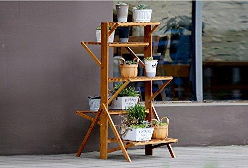 REGAL BOBE Shop- Balkon Blumenregal Falten Nanzhu Holzboden Wohnzimmer mehrstöckige Blumenregale