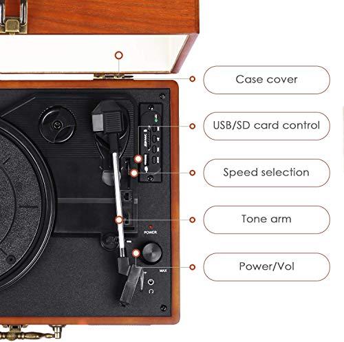 Zoom IMG-3 giradischi amzdeal lettore portatile in