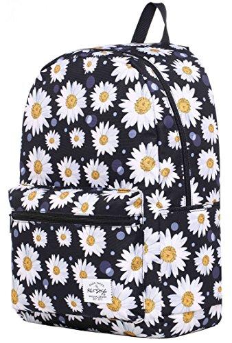 HotStyle TrendyMax Galaxy Sac à dos Scolaire - Peut contenir un ordinateur portable jusqu'à 15 pouces - Marguerite