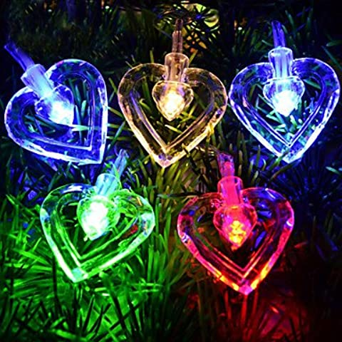 Ailimi- 5M 3W 50-LED doppio amore a forma di LED luce variopinta Strip (220V)