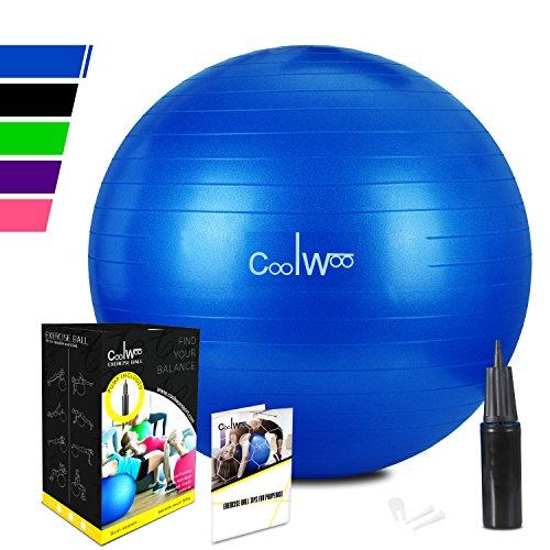 Anti-Burst Gymnastikball Sitzball Fitnessball 55cm inklusive Pumpe,300kg Maximalbelastbarkeit Pezziball Swissball Yogaball,Dunkelblau