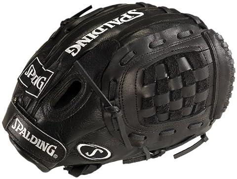 Spalding Jugend Select 26,7cm Flechteinsatz Fielding Handschuh, schwarz (Infielders Glove)
