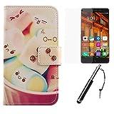Lankashi Lovely Design 3in1 Zubehör Set PU Flip Leder
