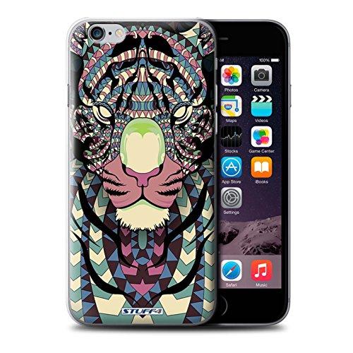 Coque de Stuff4 / Coque pour Apple iPhone 5C / Loup-Bleu Design / Motif Animaux Aztec Collection Tigre-Couleur