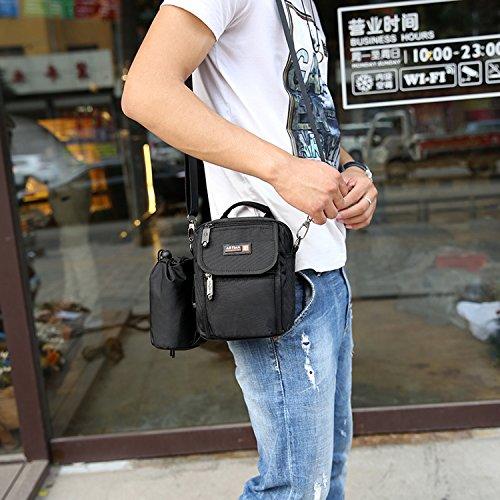 Outreo Schultertasche Vintage Umhängetasche Herren Taschen Kuriertasche Reisen Herrentaschen Messenger Bag Reisetaschen Schwarz