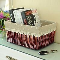 cestello/ rattan scatola di immagazzinaggio/Cestino di detriti desktop snack in cucina-B 27x17cm(11x7inch)