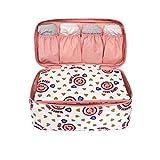Lalang Underwear Pouch Bra Lingerie Bag Travel Underwear Organizer Bag (pink)
