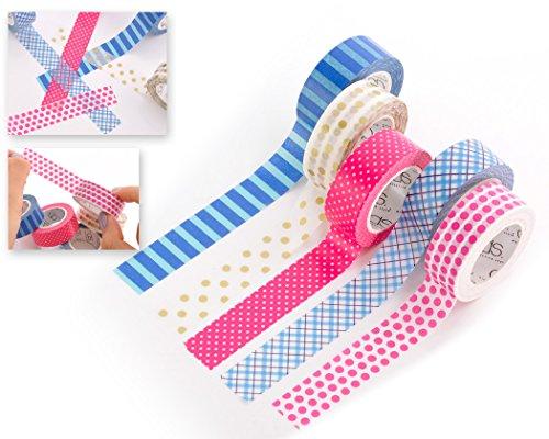 dsstyles-10m-adhesivo-creativo-reposicionable-scrapbooking-craft-stripes-dots-diy-japons-masking-tap