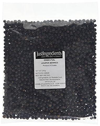 JustIngredients Essential Juniper Berries - 250 g, Pack of 2