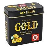 Game Factory 646252 goud, mini-kaartspel in handige metalen doos