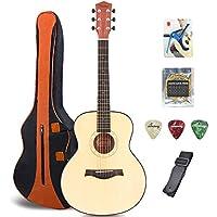 FEIXIANF - Guitarra acústica clásica de 91,44 cm con funda para transportarla, cejilla