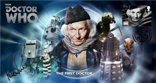 Doctor Who BBC Offizielle 50th Anniversary Limited Edition Peter Purves Unterzeichnet Ersttagsbrief - Der Erste Doktor - William Hartnell -