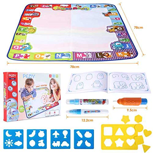 Pedy Water Magic Mat, 78CM*78CM Mess-Free Drawing Painting Doodle Mat Educational Toy Gift For Kids