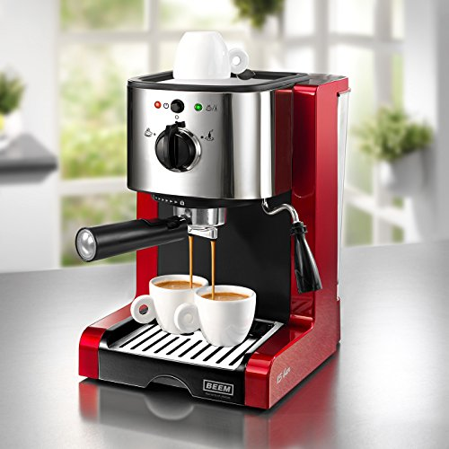 BEEM-Germany-Espresso-Perfect-Machine–Expressos-Professionnelle-rouge-brillant