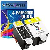 PlatinumSerie® Sparset 4x Tintenpatrone XL für Samsung 2x INK-M210/215 Black & 2x INK-C210 Color CJX-1000 CJX-1050W CJX-2000FW