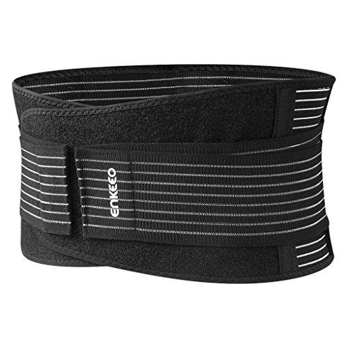 Enkeeo Rückenbandage Rückenstütze für Herren und Damen, Rückenstützgürtel Stützgürtel Rücken Rückengurt Bauch Bandage Fitnessgürtel gegen Rückenschmerzen