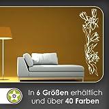 hauptsachebeklebt Blumen - Ranken Wandtattoo in 6 Größen - Wandaufkleber Wall Sticker